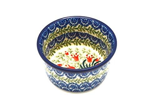 Polish Pottery Ramekin - Crimson Bells
