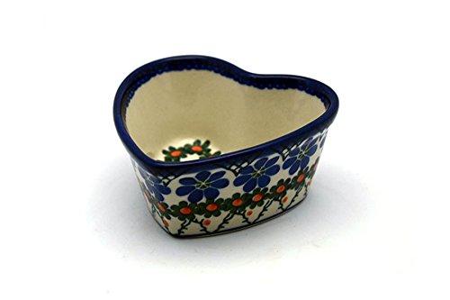 Polish Pottery Ramekin - Heart - Primrose