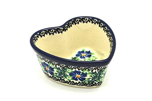 Polish Pottery Ramekin - Heart - Sweet Violet