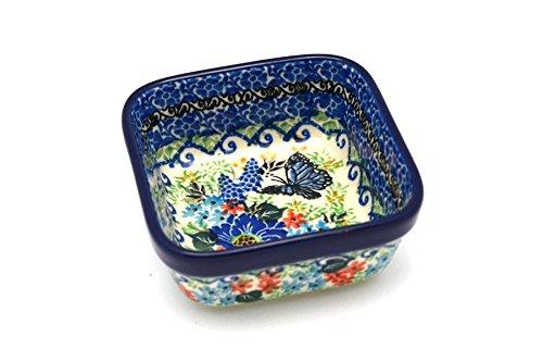 Polish Pottery Ramekin - Square - Unikat Signature - U4600