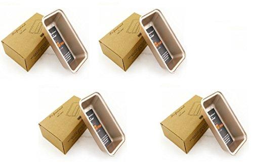 Chef Made Mini Loaf Pan Set of 4 Bakeware Mini Loaf Baking Pans Bread Pans Gold