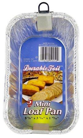 Durable Foil D50050 6 Aluminum Mini Loaf Pan 12 Pack 0f 5  60 Pans