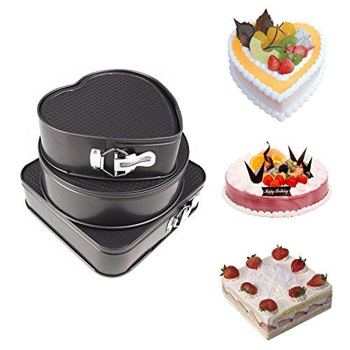 Springform Pan Yummy Sam Non-Stick Leakproof Cheesecake Pan Cake Molds Springform Cake Pans Square Heart-Shaped Round Cake Pans Bakeware Baking Pans