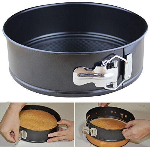 VILONG 9 inch circular Springform interlocking Chefs Classic Nonstick Bakeware Springform Pan black 1 black