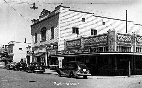 Forks Washington - A Street Scene 10724 12x18 SIGNED Print Master Art Print - Wall Decor Poster