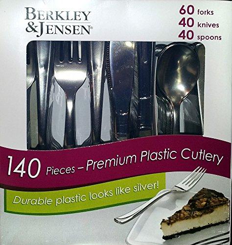 Berkley Jensen 140 Piece Premium Plastic Cutlery Set