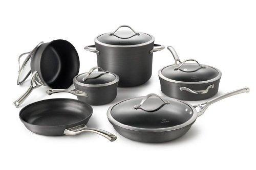 Calphalon Contemporary Hard-anodized Aluminum Nonstick Cookware, Set, 11-piece, Black