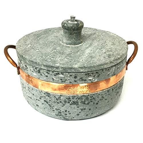 Ancient Cookware Brazilian Soap Stone Semi Pressure Cooker Panela de Pedra de Pressao