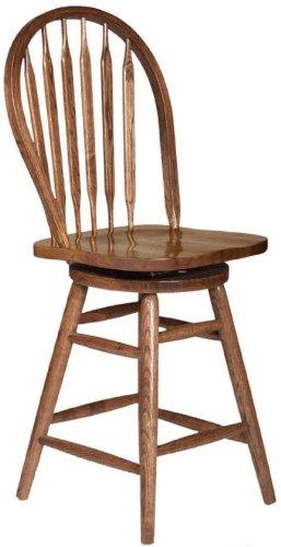 Dooleys 5105 Solid Oak Arrowback Barstool 19-12 Length x 17-12 Width x 43 Height Harvest Finish