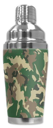 Mugzie brand 20 Ounce Cocktail Shaker with Insulated Wetsuit Cover - Camo