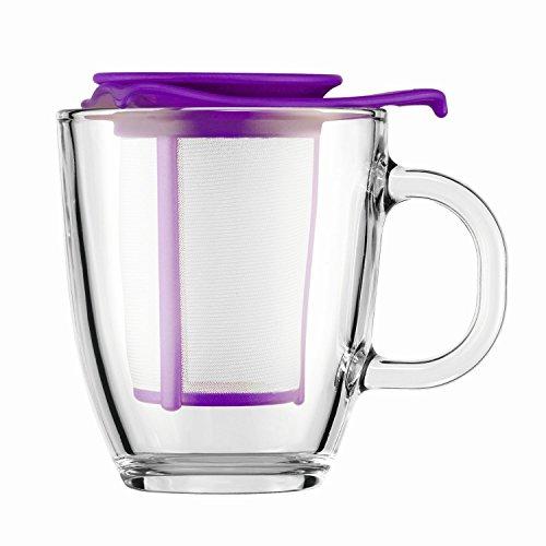 Bodum Yo Yo - Mug and Tea Strainer Set - 035l12oz - Purple 150