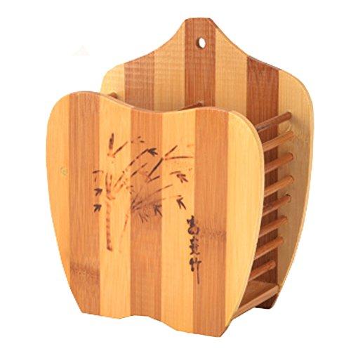 Chopsticks Spoons Forks Knife Organizer Utensil Drying Rack Dryer Wooden C
