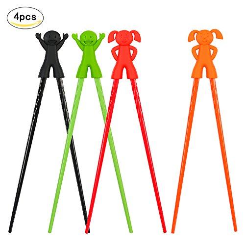 Training ChopsticksKAKOO 4 Pairs Chopsticks Helper Cartoon Characters Serise Chopsticks Utensil Set for Kids and Adults