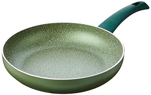 ALMA A0190226 Leaf High Frypan cm 26 Aluminium Cookware Light Green