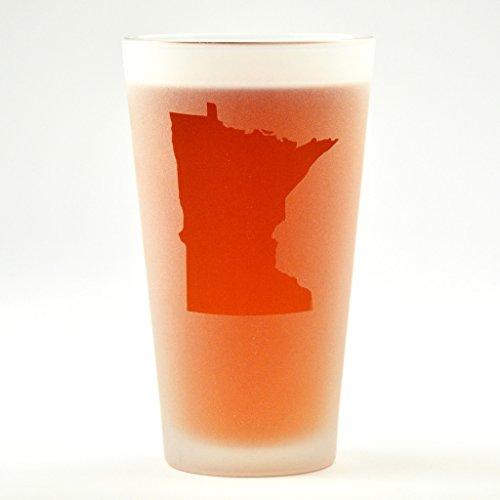 Minnesota State Engraved Pint Glass