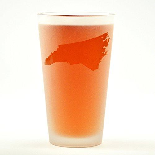 North Carolina State Engraved Pint Glass