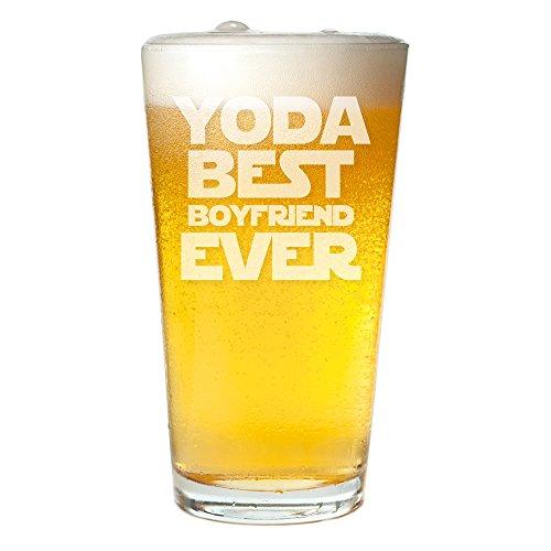 Yoda Best Boyfriend Ever Engraved Pint Glass