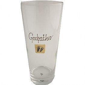 Godfather pint glass cream baby feet