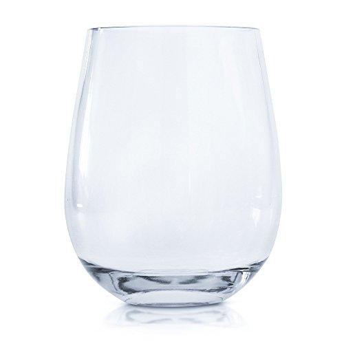 Every Loft Stemless Unbreakable Wine Glass Tritan Plastic BPA-Free Dishwasher-Safe 16-Ounce Set of 4