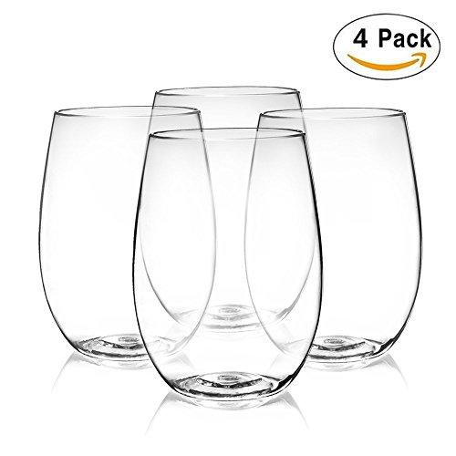 Unbreakable Wine GlassTritan Plastic Wine GlassReusable Set Set of 4
