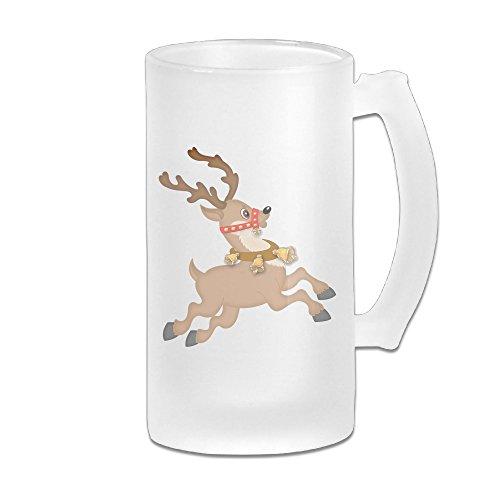 Baerg Reindeer Adult Useful Frosted Novelty Beer Glass