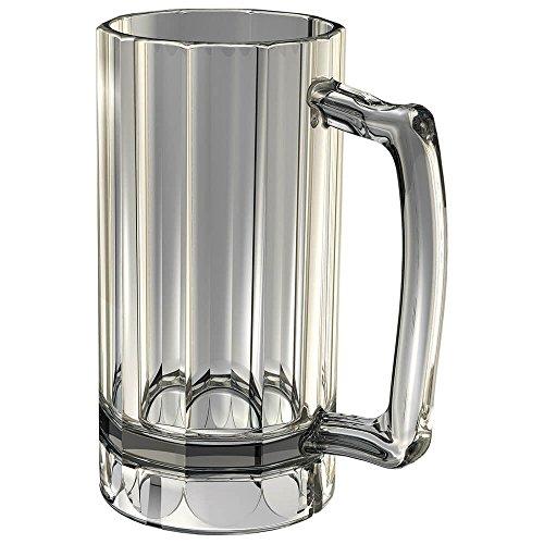 Cambro BWB16CW135 Aliso Clear Plastic 16 oz Beer Mug - 12  CS