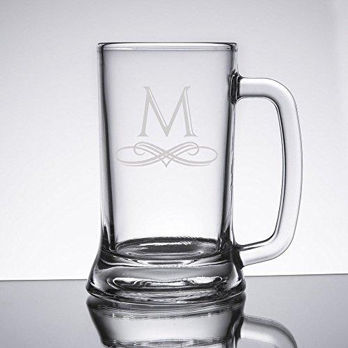 Personalized 16 oz Beer Mug Glasses Set of 12