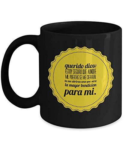 Regalo para Cristianos Catolicos Judios Dios Monogram coffee mugs for Men and Women Who Love Large Mug of Custom Coffee Cups Tall Coffee Mugs