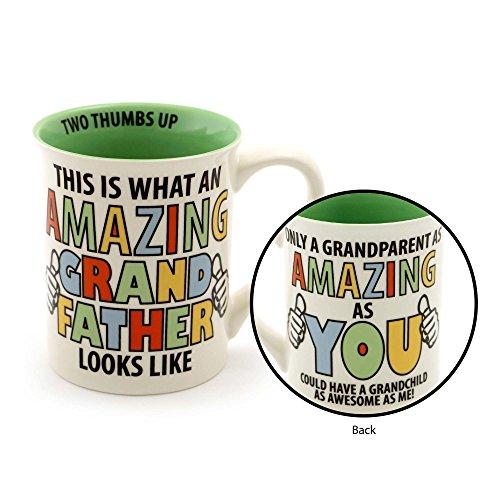 "Our Name is Mud ""Amazing Grandfather"" Stoneware Coffee Mug 16 oz"