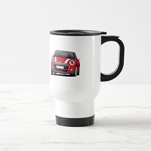 Zazzle Mini Hatch Cooper f56 Two Image Mug White - Red Coffee Mug White TravelCommuter Mug 15 oz