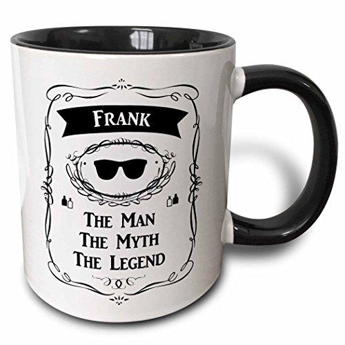 3D Rose 232285_4 Frank the Man the Myth the Legend Name Personalized Gift Two Tone Ceramic Mug Black