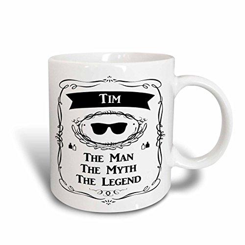 3D Rose 232369_2 Tim the Man the Myth the Legend Name Personalized Gift Ceramic Mug 15 oz White