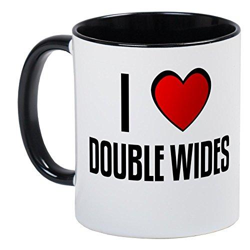 CafePress - I LOVE DOUBLE WIDES Mug - Unique Coffee Mug Coffee Cup