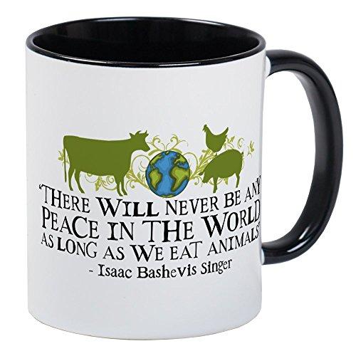 CafePress - Never Be Peace - Wide Mug - Unique Coffee Mug Coffee Cup
