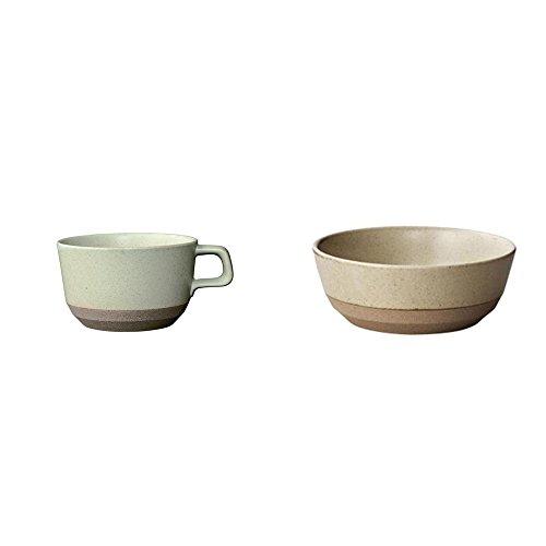 KINTO CLK-151 Beige Porcelain Bowl and Wide Mug Set of 2