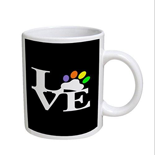 Puppy Dog Love Large White Coffee Cup Mug