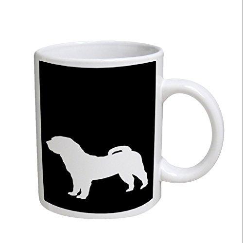 Shar Pei Dog Large White Coffee Cup Mug
