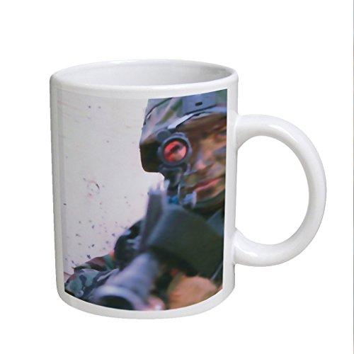 Soldier Gun Scope Large White Coffee Cup Mug