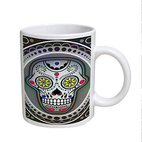 Sugarskull Nitro Large White Coffee Cup Mug