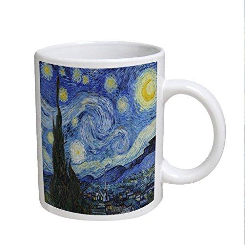 Van Gogh Starry Night Large White Coffee Cup Mug