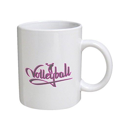 Vollyball Pink Large White Coffee Cup Mug