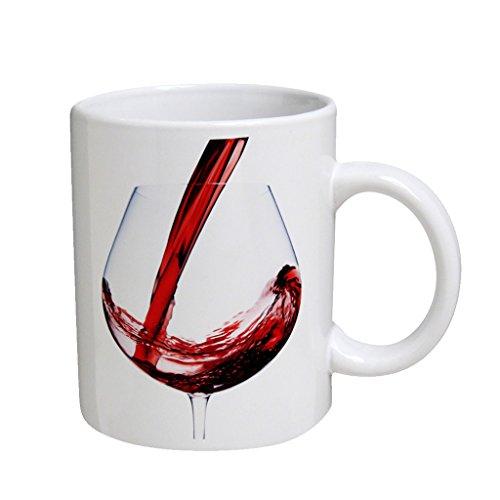 Wine Glass Large White Coffee Cup Mug