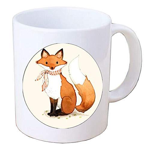 Glass Coffee Mug Cute Fox Coffee Mug Fox Mug for Women men Glass Cabochon Coffee Mugsimple minimalist jewelleryHTY-042