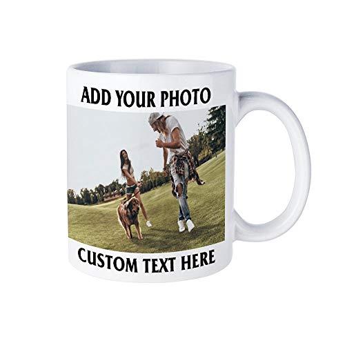 Custom Photo Mug Personalized Coffee Cups with PictureTextNameCustomized Ceramic CupPersonalized Gift for Mom Dad Husband Boyfriend Grandma Grandpa