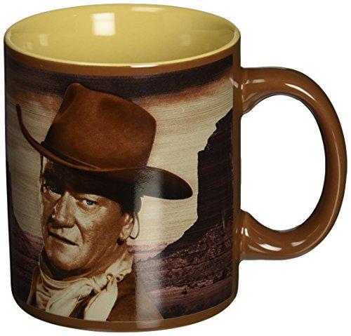 Vandor 15161 John Wayne  A Mans Got To Do 12 oz Ceramic Mug Brown