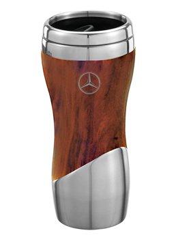 Mercedes-Benz Wood Grain Design Tumbler Coffee Mug Genuine Licensed Product