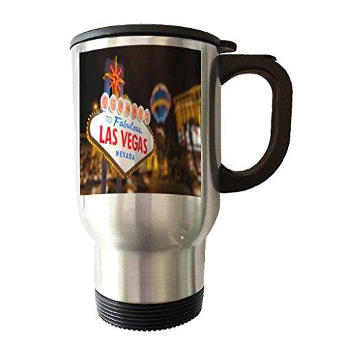 Stainless Steel Travel Tumbler Coffee Mug - Fabulous Las Vegas