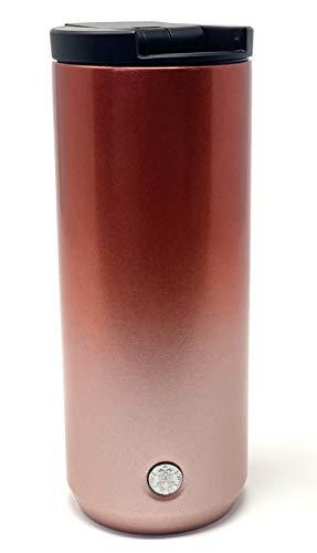 Starbucks Vacuum Insulated Stainless Steel Traveler Tumbler Coffee Mug 12 Oz - Gradient Metallic Red