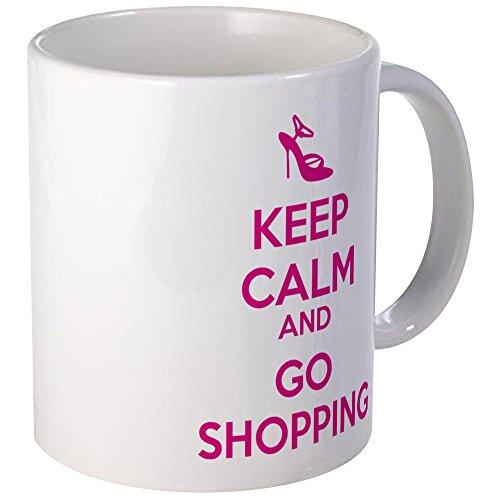 CafePress - Keep Calm And Go Shopping Mug - Unique Coffee Mug Coffee Cup