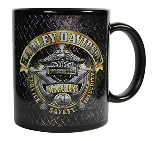 Harley-Davidson Sheriff Original Ceramic Coffee Mug 11 oz Black CM126477